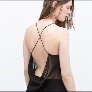 Zara Tops - *NWOT* ZARA Crossback Strap Top