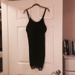 Authentic LF slip velvet dress BNWT