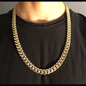 Other - Gold chain 14k stamped Cuban 24in 10mm Box Style