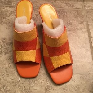 Jacqueline Ferrar Shoes - BRAND NEW Orange and yellow summer heels!!