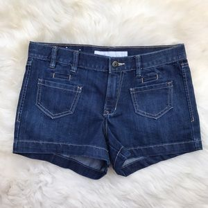 Old Navy Pants - Old Navy The Flirt Mid-Rise Dark Denim Shorts