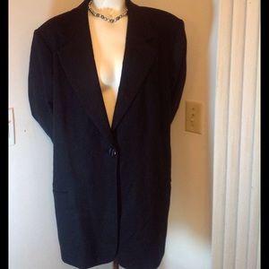 Sag Harbor Jackets & Blazers - BLACK WOOL BLAZER FULLY LINED
