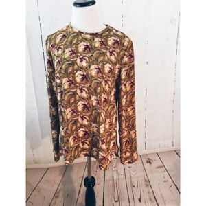 Philosophy Republic Clothing Floral Tunic Blouse M