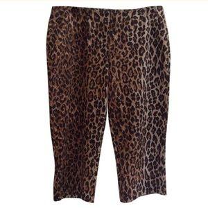 D&G Pants - [D&G] Dolce&Gabbana Animal Print Capris, Size 32