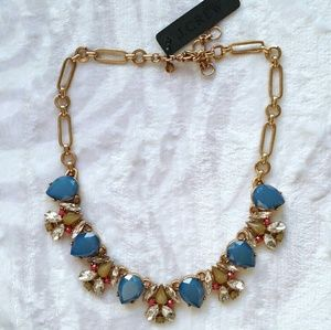J. Crew Jewelry - Jcrew blue green statement necklace