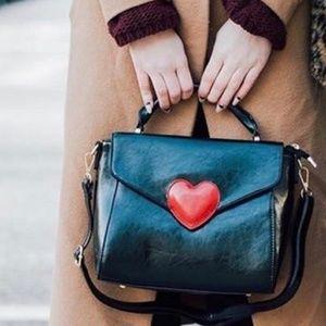 Pink Haley Handbags - IN STOCK!! NEW Black heart satchel!