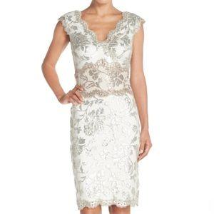 Tadashi Shoji Dresses & Skirts - Tadashi Shoji Two-Tone Sequin Lace Sheath Dress