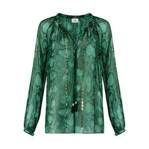 Altuzarra Tops - 💕 ALTUZARRA for Targèt green python print blouse