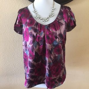 Kenar purple silk Floral top