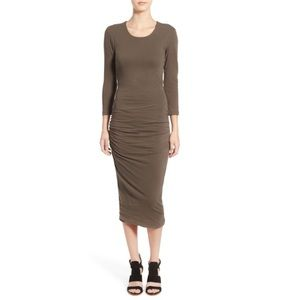 James Perse Dresses & Skirts - James Perse Cutout Midi Dress in Platoon size 4.