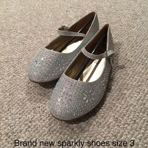 Other - New silver shoes girls size 3 (fit like 2)
