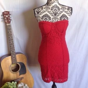 Miss Chievous Dresses & Skirts - NWT Miss Chievous Red Lace Strapless Mini Dress