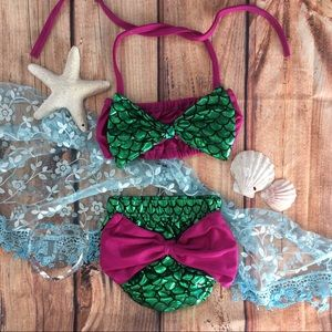 Other - Boutique Baby Girl 1st Mermaid Swm bikini