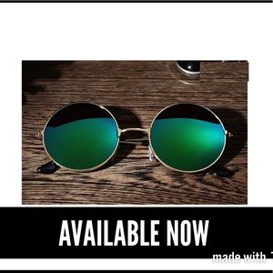 Other - Gold Frame Green Mirrored Lens Sunglasses