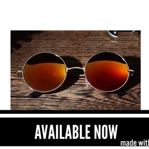 Other - Gold Frame Red Mirrored Lens Sunglasses