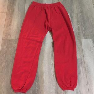 Hanes Other - Hanes Red Jogger Sweatpants - Sz Medium