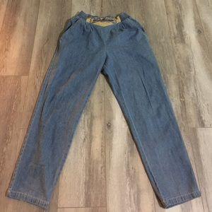 Vintage Pants - VINTAGE 70s Style Denim Jean Pants - Women's, S