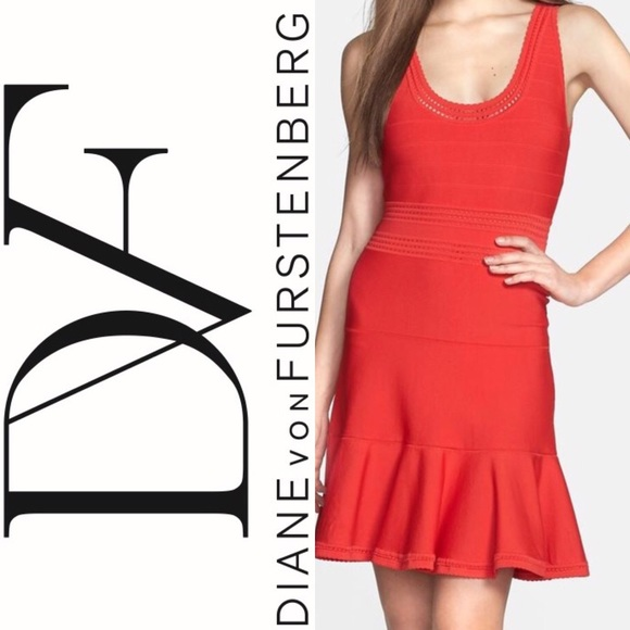 e6010e3f403 Diane von Furstenberg Dresses   Skirts - Diane von Furstenberg Perry Red Fit    Flare dress