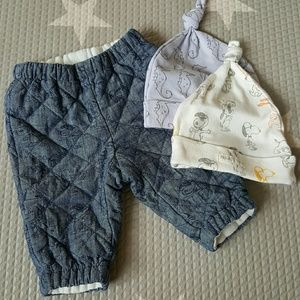 GAP Other - Baby Gap 0-3M Peanuts Collection Pants Set