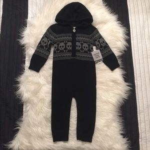 Amy Coe Other - Any Coe Skull Sweater onesie Outfit BNWT 12 months