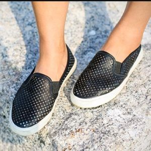 J.Crew Factory Shoes - J.Crew factory perforated black slip on shoes 8