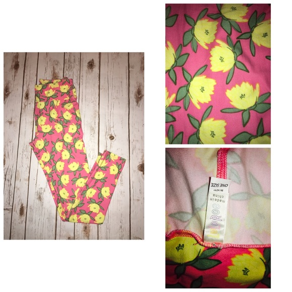 Lularoe pants leggings os muted pink with yellow flowers poshmark lularoe leggings os muted pink with yellow flowers mightylinksfo