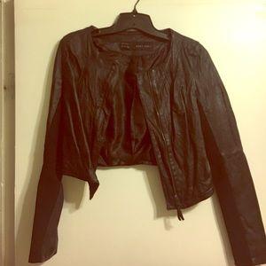 Zara Jackets & Blazers - Black Zara leather crop jacket