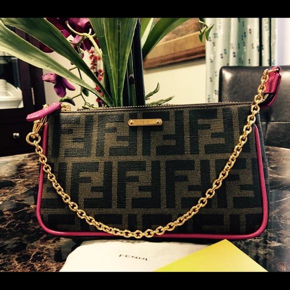 84b6c9921728 Fendi Handbags - 🎉SALE🎉Always Authentic Fendi Zucca Pochette