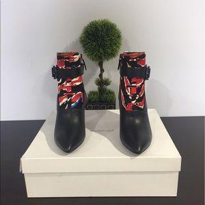 Balenciaga Black and Red boots