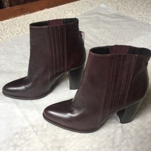 NWT ZARA LEATHER HIGH HEEL ANKLE BOOTS