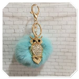 Jeweled Owl Purse Charm