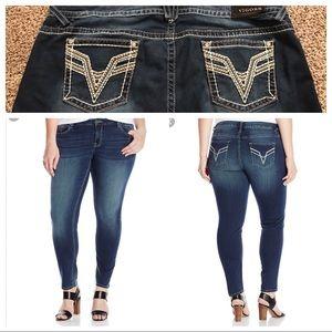 "Vigoss Denim - Vigoss ""Chelsea"" Skinny Jeans Size 24 Plus"