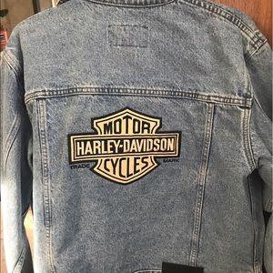 Harley-Davidson Jackets & Blazers - authentic Harley Davidson jean jacket