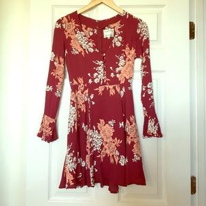Privacy Please Dresses & Skirts - Privacy Please Red Floral Mini Dress