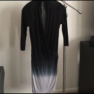 Young Fabulous & Broke surplice 3/4 sleeve dress S