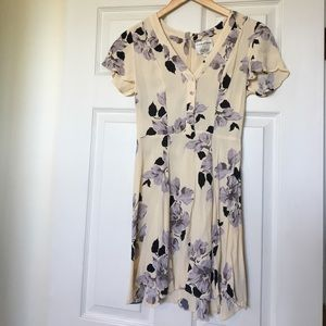 Privacy Please Dresses & Skirts - Privacy Please Cream Floral Mini Dress