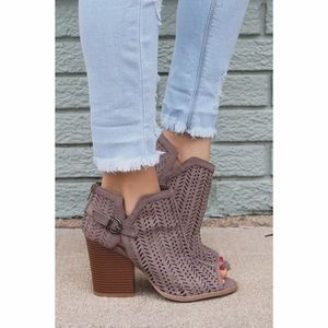 Taupe Cut Out Booties