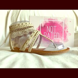 Not Rated Shoes - Not Rated Cream Gladiator Sandals - Size 7
