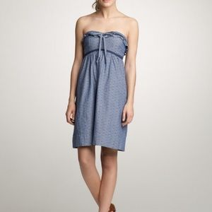 78% off J. Crew Dresses & Skirts - J. Crew Strapless red cotton ...