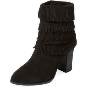 Catherine Malandrino Shoes - Catherine Malandrino Black Domenica Fringe Boots