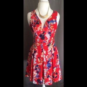 AKIRA Dresses & Skirts - Colorful Floral Party Dress 🎈
