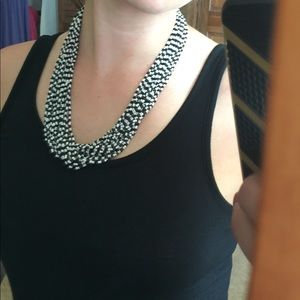 Jewelry - Black and white beaded necklace