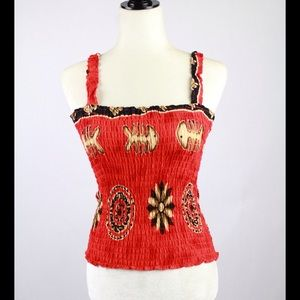 Vintage Red and Brown Tribal Stretch Tank