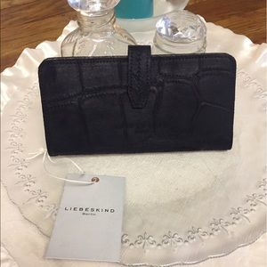 Liebeskind Handbags - Liebeskind wallet - black Embossed NWT