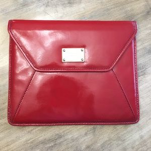 Michael Kors Red Envelope Clutch