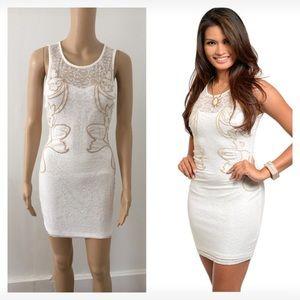 Dresses & Skirts - NIP small white taupe dress