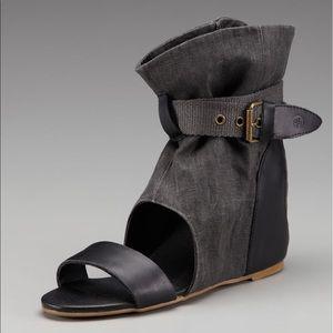 80%20 Shoes - New 80%20 Molly Linen Hidden Wedge Sandals