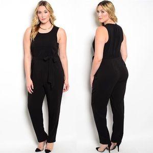 Pants - Black plus size jumpsuit