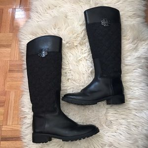 Tory Burch Quilted Riding Boots