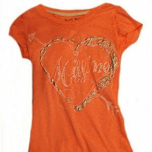 Miss Me Girls Embellished Heart Tee